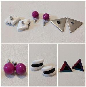 1980s vintage earrings bundle costume jewelry lot